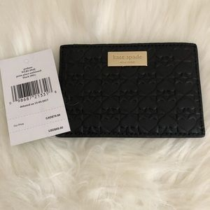 NWT Black Kate Spade Card Holder